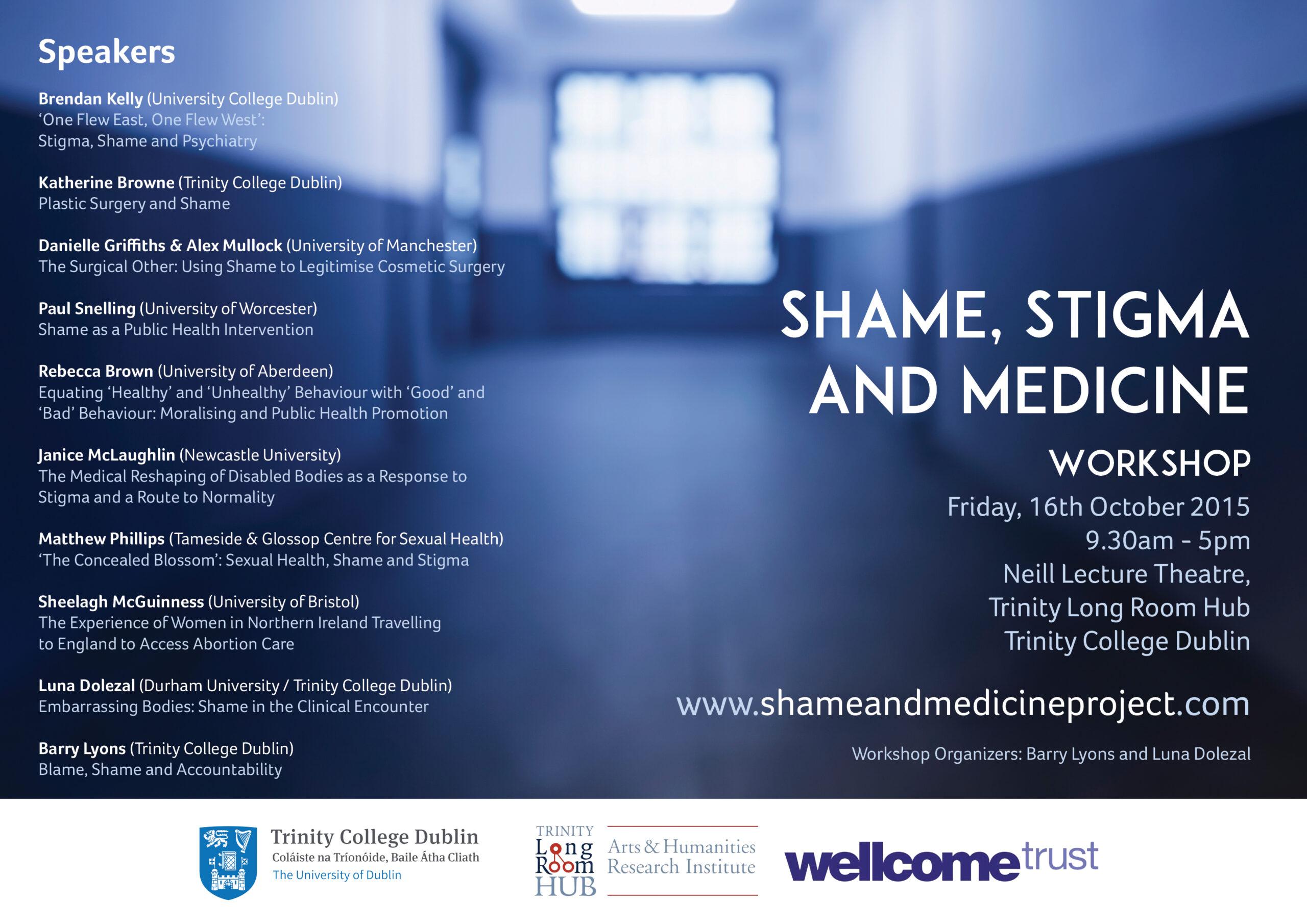 The Shame, Stigma and Medicine Workshop